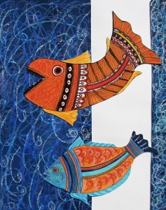 Two gulping fish 2012